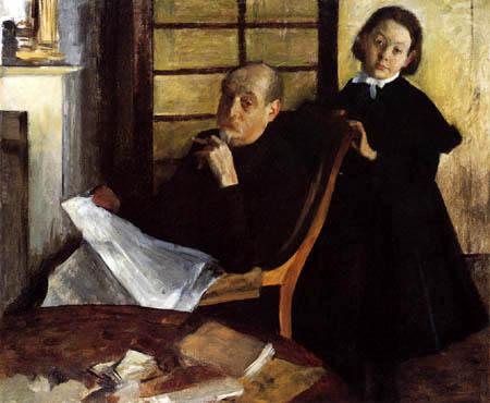 Edgar (Hilaire Germain) Degas (de Gas) - Onkel und Nichte