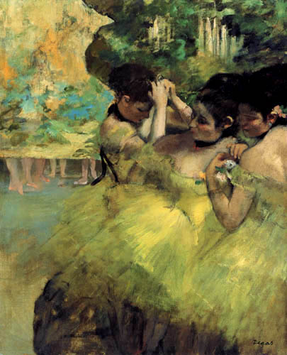 Edgar (Hilaire Germain) Degas (de Gas) - Gelbe Tänzerinnen