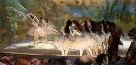 Edgar (Hilaire Germain) Degas (de Gas) - Ballet in the opera of Paris