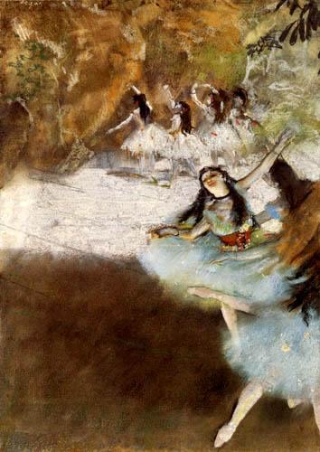 Edgar (Hilaire Germain) Degas (de Gas) - On the stage