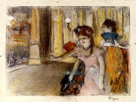 Edgar (Hilaire Germain) Degas (de Gas) - Sängerinnen auf der Bühne