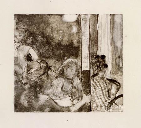 Edgar (Hilaire Germain) Degas (de Gas) - Am Abend vor dem Cafe