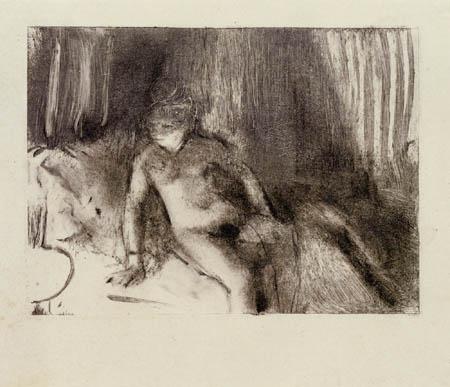 Edgar (Hilaire Germain) Degas (de Gas) - Wartend