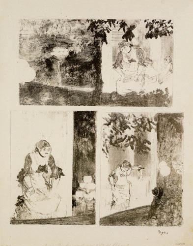 Edgar (Hilaire Germain) Degas (de Gas) - Mademoselle Becat im Ambassadeurs