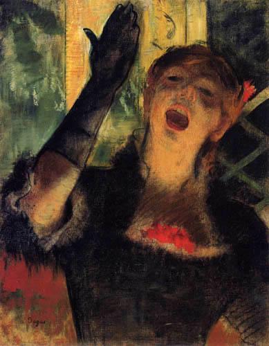 Edgar (Hilaire Germain) Degas (de Gas) - Cafesängerin