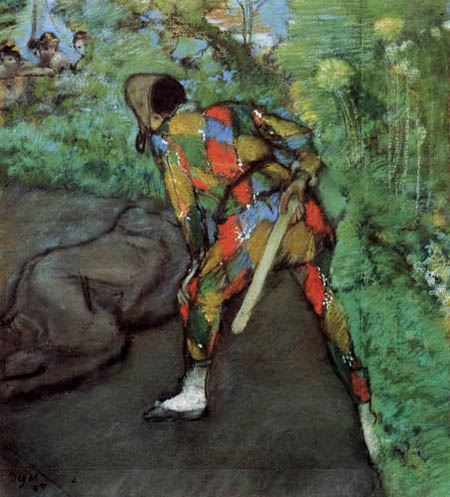 Edgar (Hilaire Germain) Degas (de Gas) - Ein Harlekin
