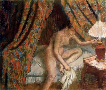 Edgar (Hilaire Germain) Degas (de Gas) - Eine Frau sich zur Ruhe legend