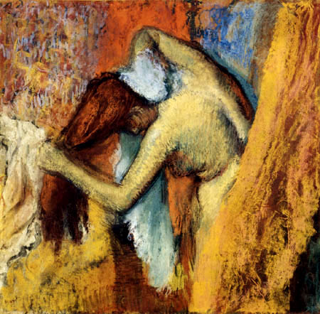 Edgar (Hilaire Germain) Degas (de Gas) - Frau sich den Nacken trocknend