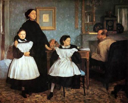Edgar (Hilaire Germain) Degas (de Gas) - Die Familie Bellelli
