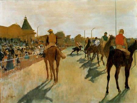 Edgar (Hilaire Germain) Degas (de Gas) - Rennpferde vor den Tribünen
