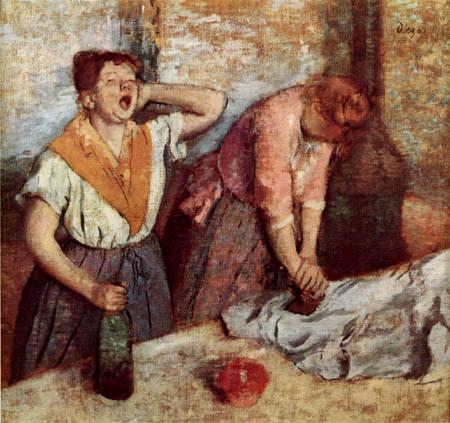Edgar (Hilaire Germain) Degas (de Gas) - Die Büglerinnen