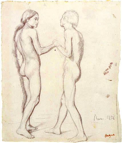 Edgar (Hilaire Germain) Degas (de Gas) - Studie zu 'Dante und Virgil'