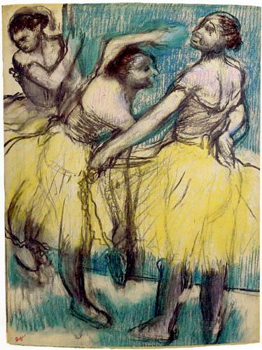 Edgar (Hilaire Germain) Degas (de Gas) - Drei Tänzerinnen in gelben Röcken