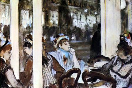 Edgar (Hilaire Germain) Degas (de Gas) - Das Café Boulevard, Montmartre