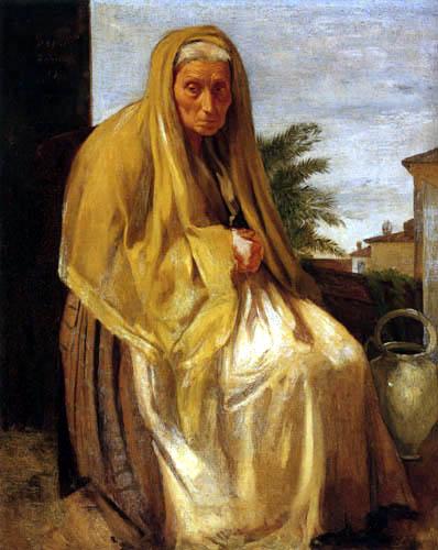 Edgar (Hilaire Germain) Degas (de Gas) - Alte Italienerin