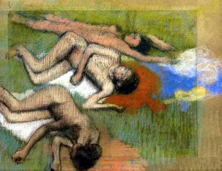 Edgar (Hilaire Germain) Degas (de Gas) - Drei weibliche Akte nach dem Bade