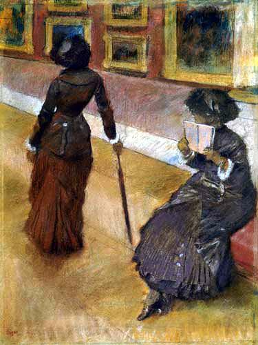 Edgar (Hilaire Germain) Degas (de Gas) - Im Louvre