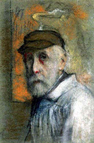 Edgar (Hilaire Germain) Degas (de Gas) - Autoporträt