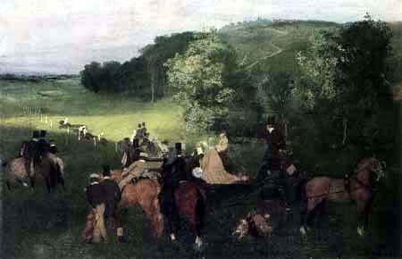 Edgar (Hilaire Germain) Degas (de Gas) - Beim Pferderennen