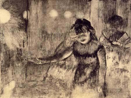 Edgar (Hilaire Germain) Degas (de Gas) - Cafe-Concert-Sängerin beim Vortrag