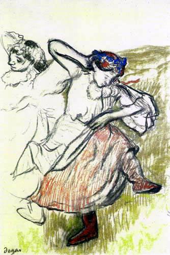 Edgar (Hilaire Germain) Degas (de Gas) - Russische Tänzerin