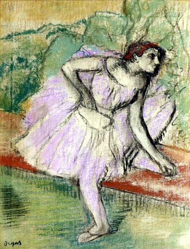 Edgar (Hilaire Germain) Degas (de Gas) - Tänzerin in violett
