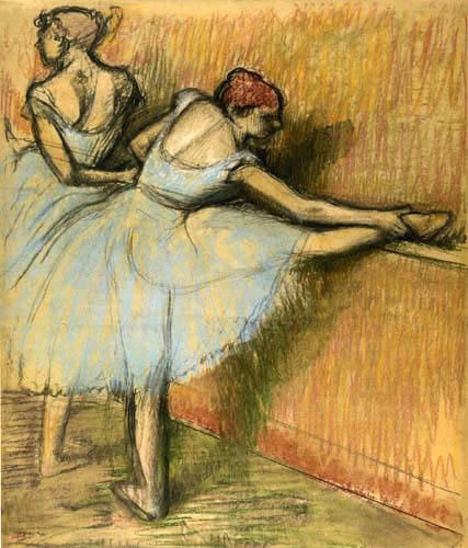 Edgar (Hilaire Germain) Degas (de Gas) - Tänzerinnen an der Stange