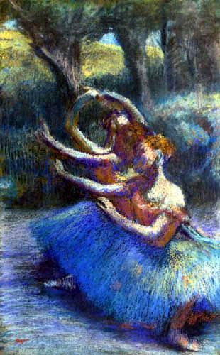 Edgar (Hilaire Germain) Degas (de Gas) - Tänzerinnen vor einer Landschaft