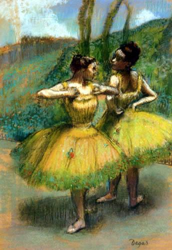 Edgar (Hilaire Germain) Degas (de Gas) - Tänzerinnen in gelben Röcken
