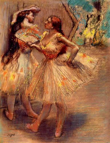 Edgar (Hilaire Germain) Degas (de Gas) - Tänzerinnen vor dem Auftritt