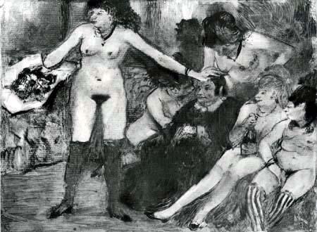Edgar (Hilaire Germain) Degas (de Gas) - Das Fest der Bordellwirtin