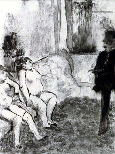 Edgar (Hilaire Germain) Degas (de Gas) - Der Kunde