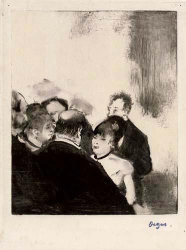 Edgar (Hilaire Germain) Degas (de Gas) - Die Schwestern Cardinal mit Verehrern