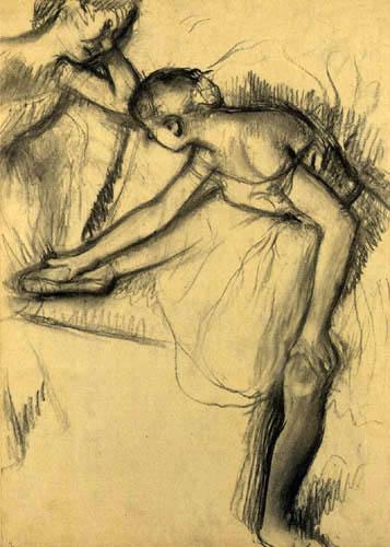Edgar (Hilaire Germain) Degas (de Gas) - Zwei Tänzerinnen beim Ausruhen