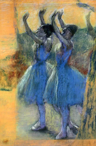 Edgar (Hilaire Germain) Degas (de Gas) - Zwei Tänzerinnen in violett