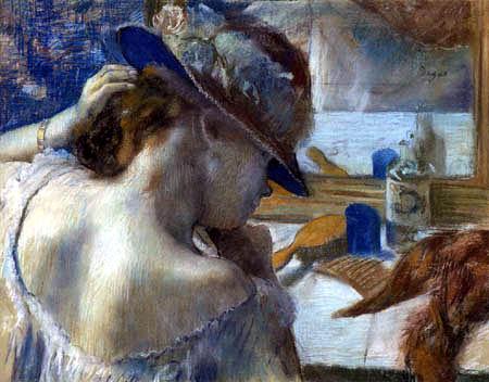 Edgar (Hilaire Germain) Degas (de Gas) - Vor dem Spiegel