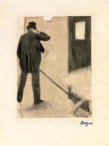 Edgar (Hilaire Germain) Degas (de Gas) - Ein Besucher vor den Garderoben
