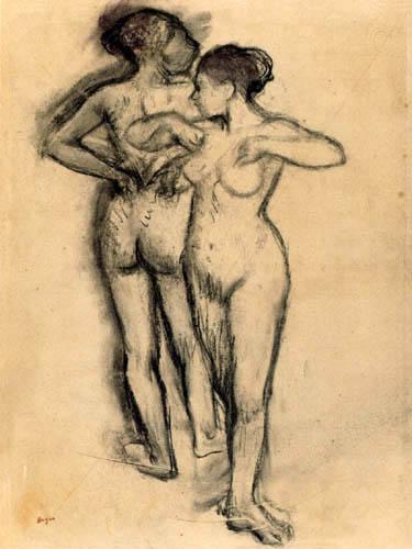 Edgar (Hilaire Germain) Degas (de Gas) - Studie zweier Tänzerinnen
