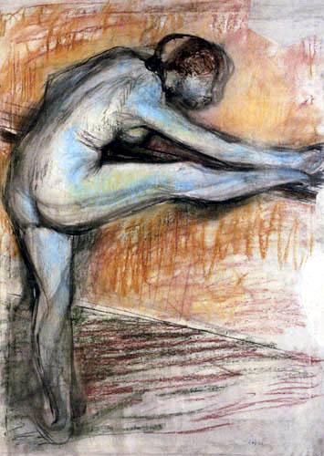 Edgar (Hilaire Germain) Degas (de Gas) - Aktstudie für eine Tänzerin an der Stange