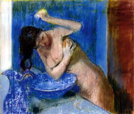 Edgar (Hilaire Germain) Degas (de Gas) - Frau bei der Toilette
