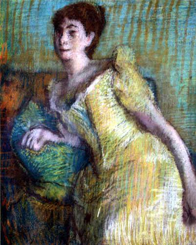 Edgar (Hilaire Germain) Degas (de Gas) - Sitzende Frau in gelbem Kleid