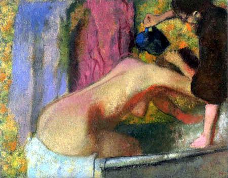 Edgar (Hilaire Germain) Degas (de Gas) - Frau im Badebecken