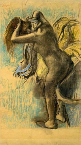 Edgar (Hilaire Germain) Degas (de Gas) - Frau nach dem Bade sich abtrocknend