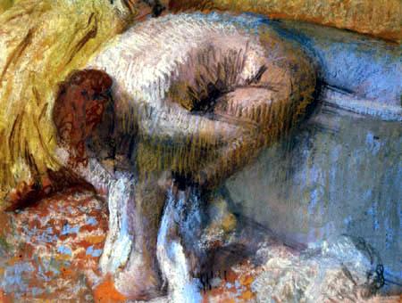 Edgar (Hilaire Germain) Degas (de Gas) - Frau sich die Füsse trocknend