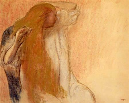 Edgar (Hilaire Germain) Degas (de Gas) - Frau beim Haare kämmen
