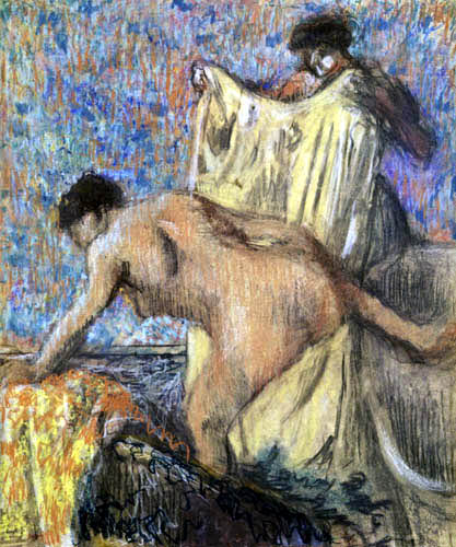 Edgar (Hilaire Germain) Degas (de Gas) - Frau aus dem Bade steigend