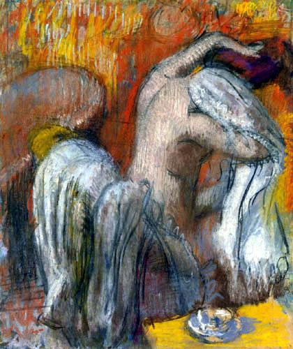 Edgar (Hilaire Germain) Degas (de Gas) - Frau beim Abtrocknen