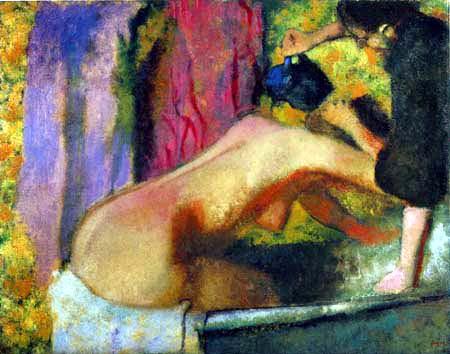 Edgar (Hilaire Germain) Degas (de Gas) - Frau in der Badewanne