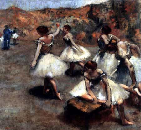 Edgar (Hilaire Germain) Degas (de Gas) - Fünf Tänzerinnen vor dem Auftritt