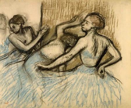 Edgar (Hilaire Germain) Degas (de Gas) - Gruppe von Tänzerinnen